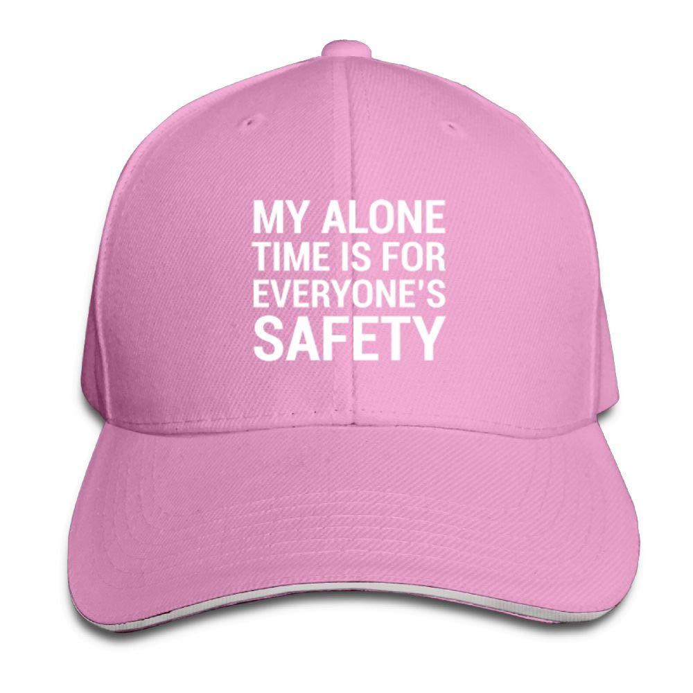 BUSEOTR Alone Time Safety Baseball Caps Adjustable Back Strap Flat Hat