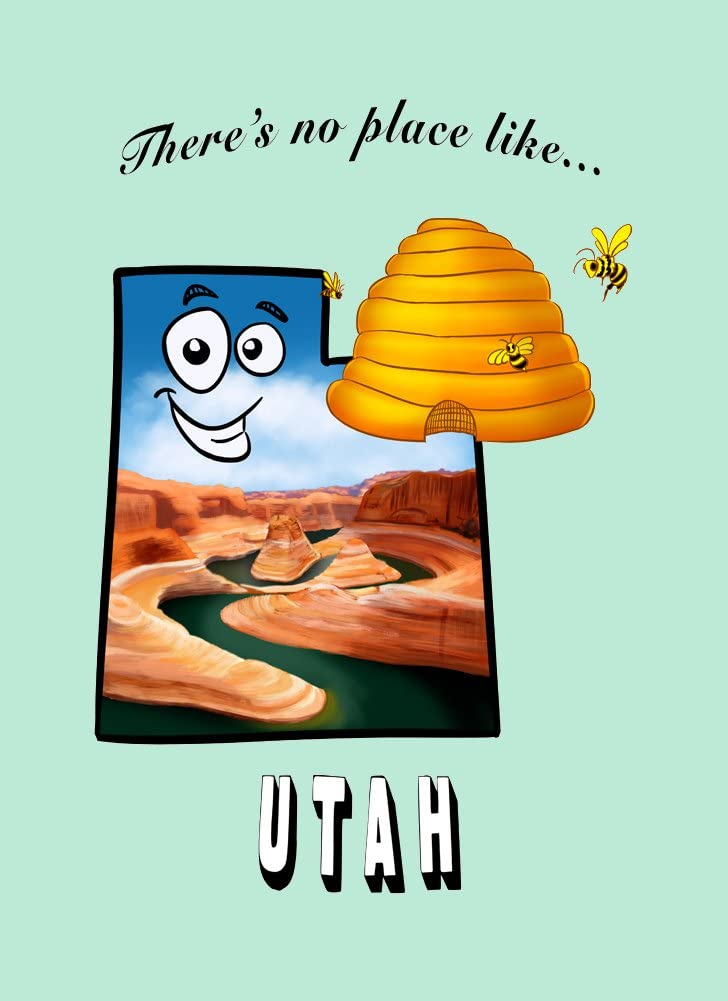 Rectangle Refrigerator Magnet - There's No Place Like Utah