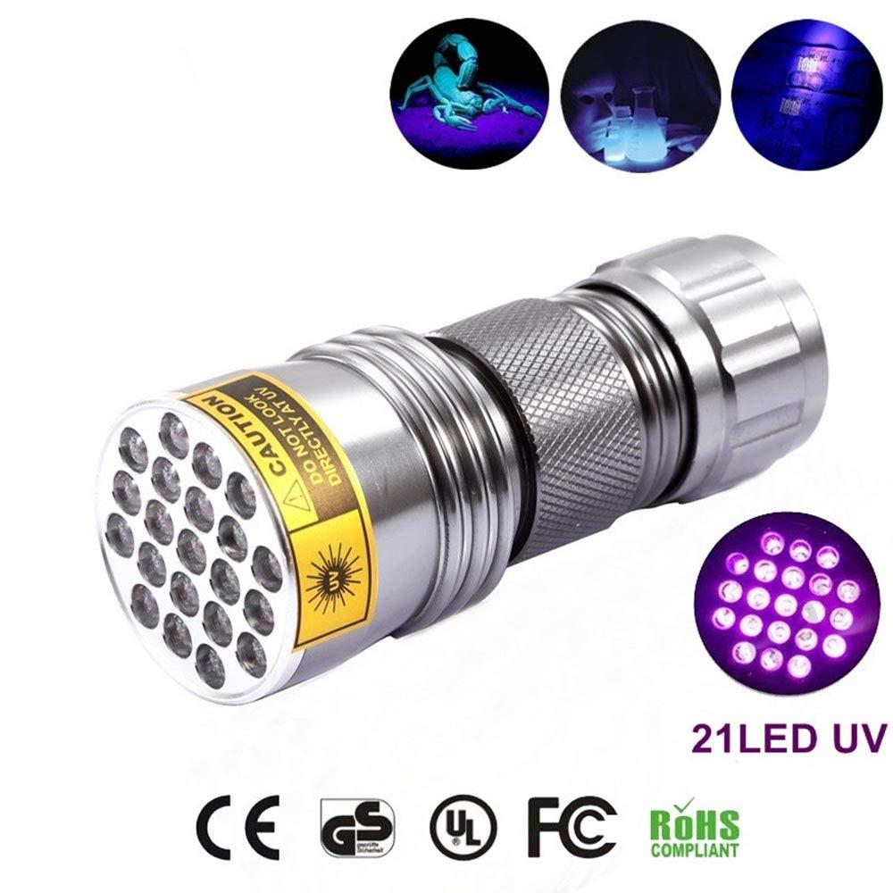 Genenic 21 LED UV 395-400nm Torcia UV per Sport allaperto
