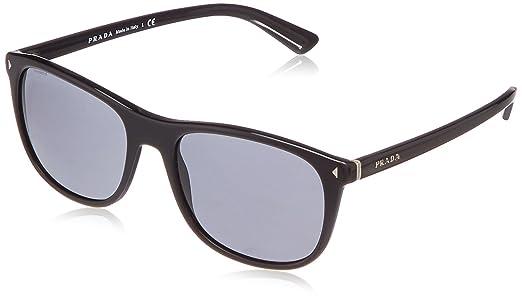 Amazon.com: Prada JOURNAL PR01RS Sunglasses 1AB1A1-57 - Black Frame ...