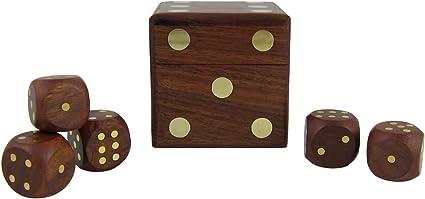 Juego de Cubilete con Cinco Dados Set: Amazon.es: Juguetes y juegos
