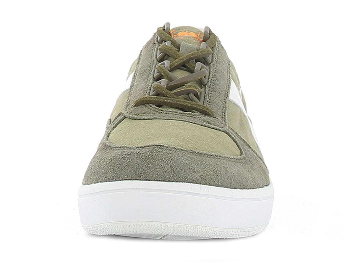 Diadora scarpe ginnastica da Leather verde & bianca B.Elite