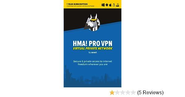 Avast HMA! PRO VPN 2019 (1 User, 1 Year) [Download]