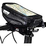Lixada Bike Phone Bag - Bike Phone Bags with Touch Screen Phone Holder Case Waterproof Bicycle Front Frame Top Tube Mount Handlebar Bags Bike Storage Bag Cycling Pack