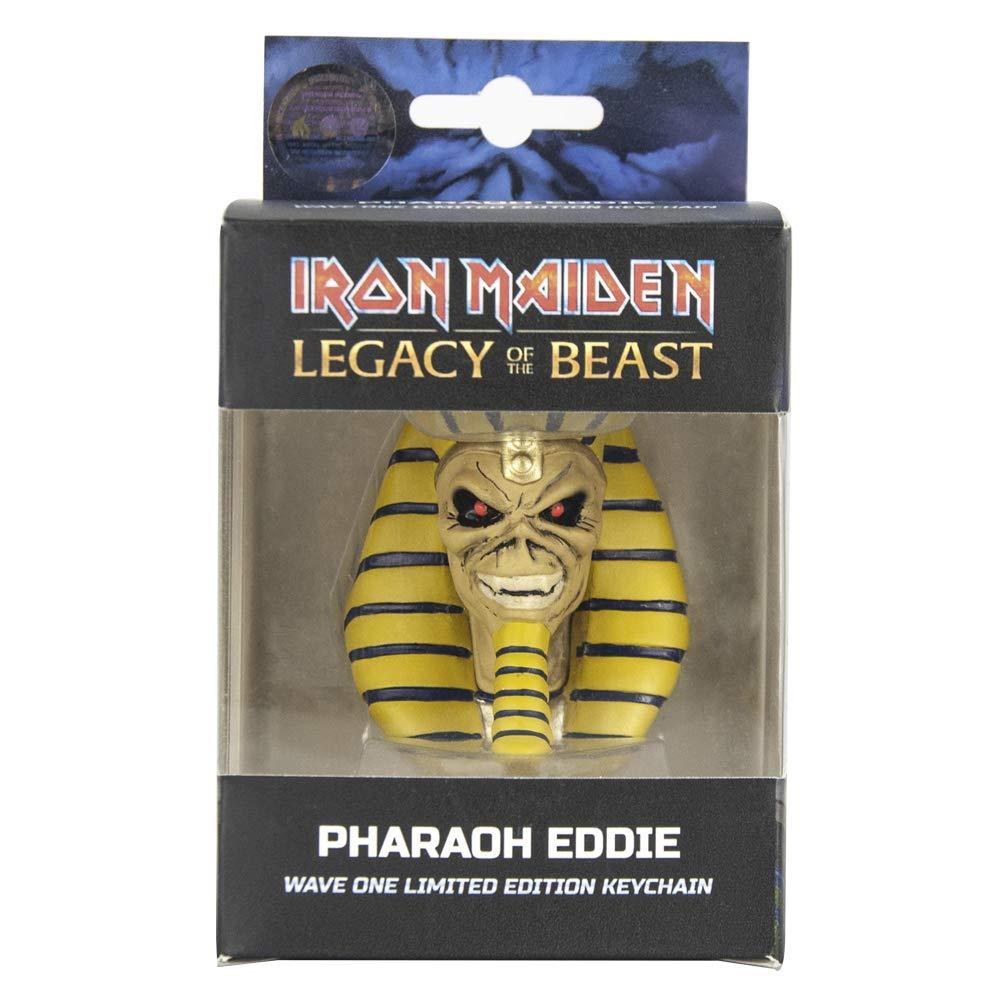 Amazon.com: Llavero con cabeza de faraón de Iron Maiden ...