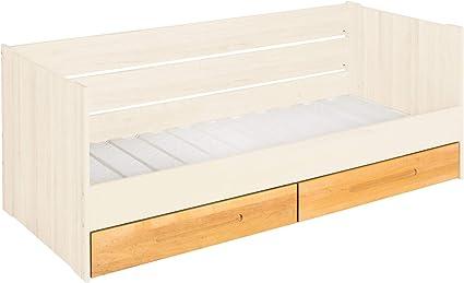 BioKinder Lina - Sofá cama funcional con somier y 2 cajones ...