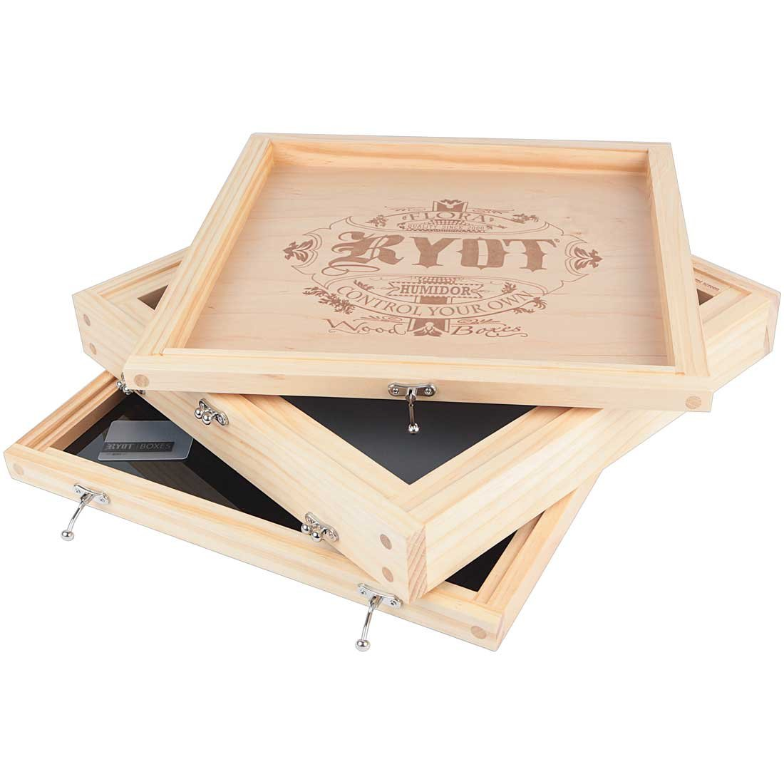 RYOT 15x15 ''Growers Box'' XL Natural Finish Wooden Pollen Sifting Box with Monofilament Screen by RYOT (Image #2)