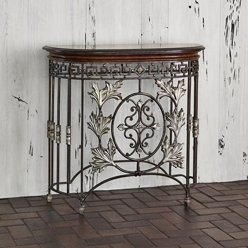 Ambella Home Collections 01142-850-012 Chesterfield Half Moon Console Ambella Home Collection