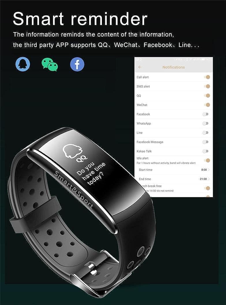 Xinan Reloj Inteligente Bluetooth Pantalla táctil Sport Phone Mate para iOS Android para iPhone (❤️Gris): Amazon.es: Relojes