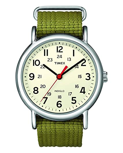c54f49acd869cc Timex Special Weekender Slip Through Unisex Quartz Watch with Beige Dial  Analogue Display and Brown Nylon Strap T2N651  Timex  Amazon.co.uk  Watches
