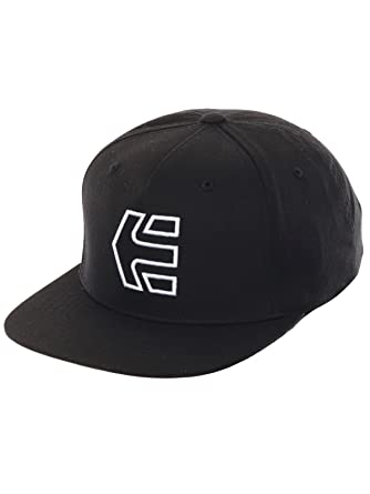 Etnies Icon 7 Snapback Hat, Color: Black/White, Size: One Size ...