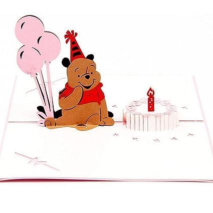 Amazon Sprinkles Gifts Laser Cut 3d Pooh Bear Birthday