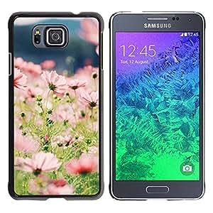 Be Good Phone Accessory // Dura Cáscara cubierta Protectora Caso Carcasa Funda de Protección para Samsung GALAXY ALPHA G850 // Summer Field Flowers Floral Green Sun