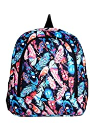 Ever Moda Feather Aztec School Work Camping Girls Backpack Jp Black Pink Blue