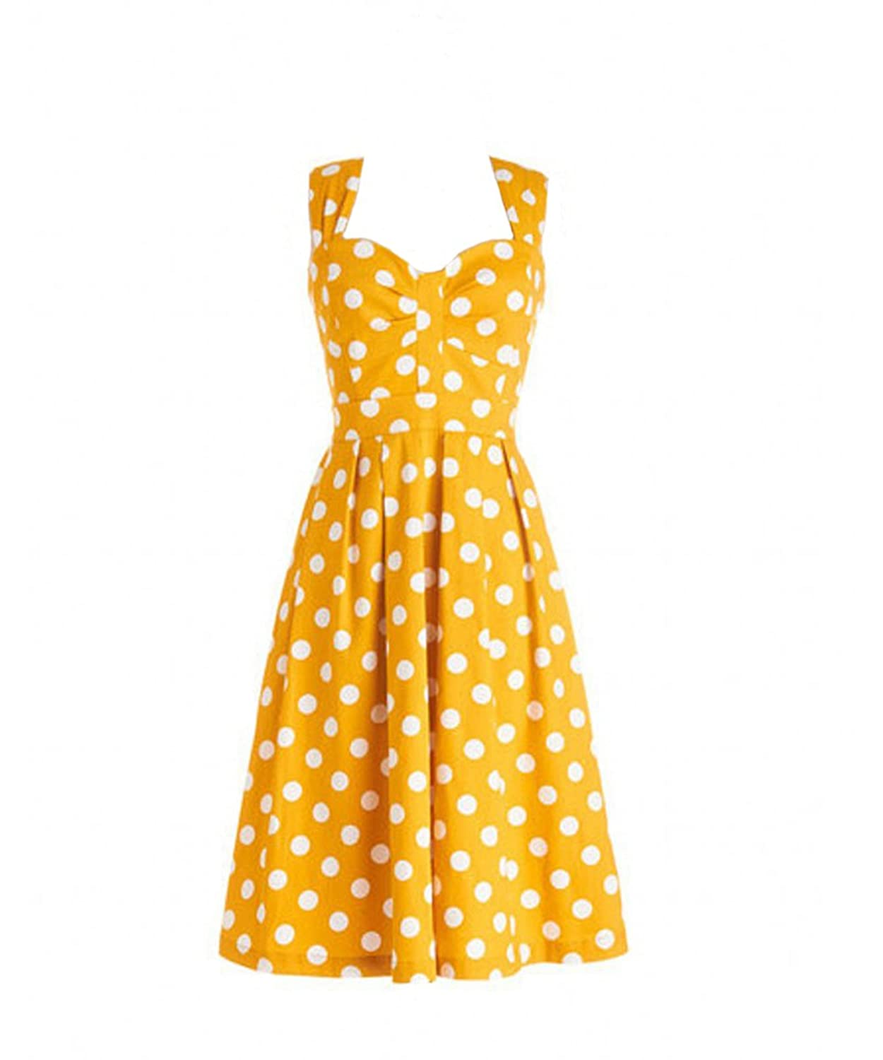Dressation Ladies Womens Vintage 1950's Polka Dots Swing Rockabilly Party Dress