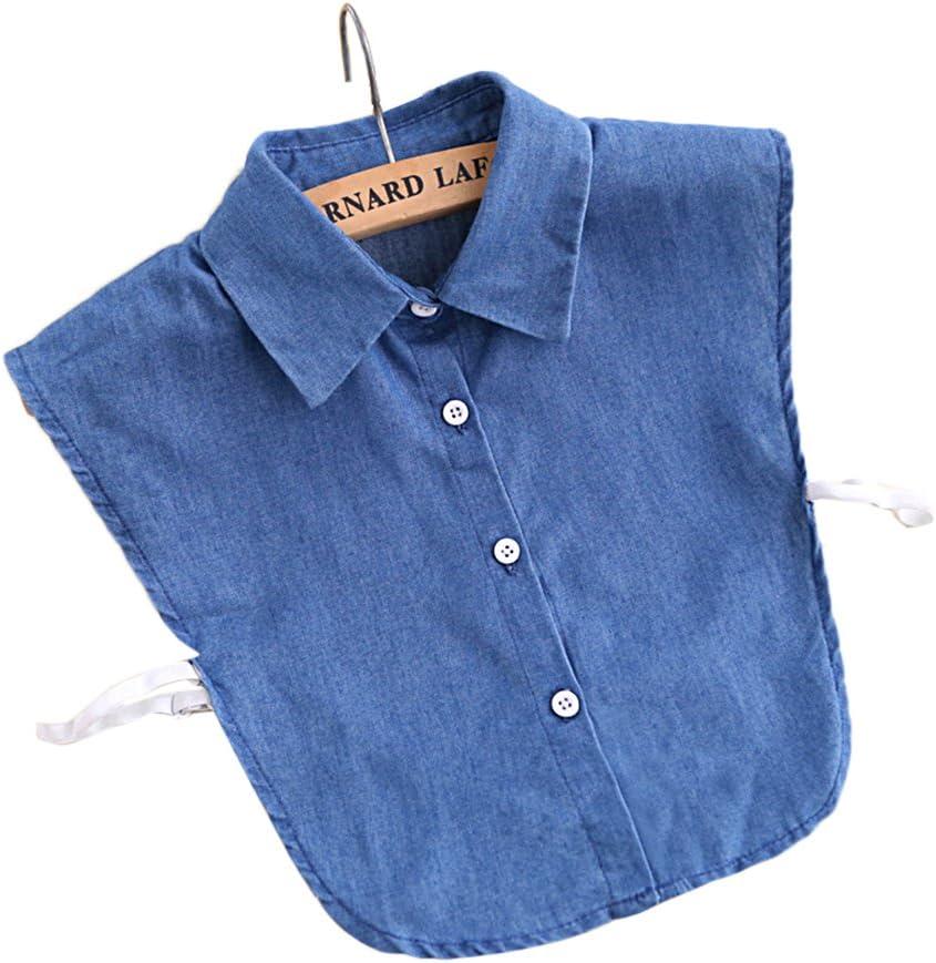 Butterme falso cuello de camisa vaquera, decoración de media camisa: Amazon.es: Belleza