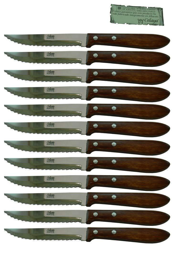 Cuchillos de mesa Madera Celaya Sierra Lote 12 Uds.: Amazon ...