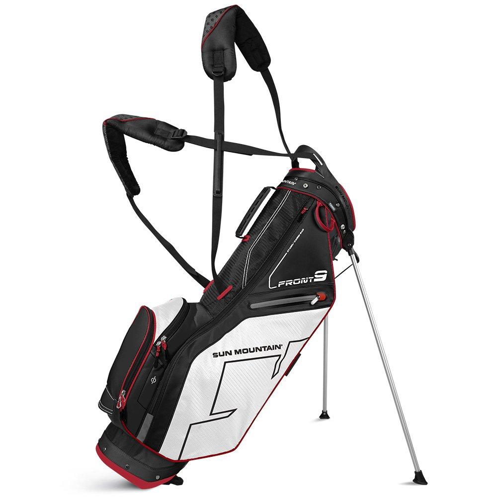 Sun MountainゴルフFront 9コンパクトスタンドCarryバッグ  ブラック/ホワイト/レッド B011EG5A80