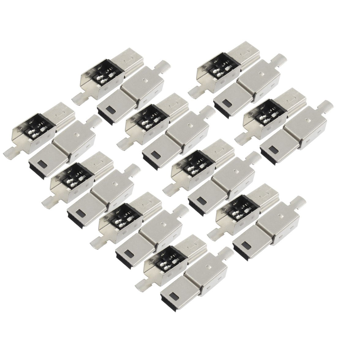 Amazon 10 pcs mini usb 5 pin type b male connector port amazon 10 pcs mini usb 5 pin type b male connector port solder plug jack computers accessories sciox Image collections