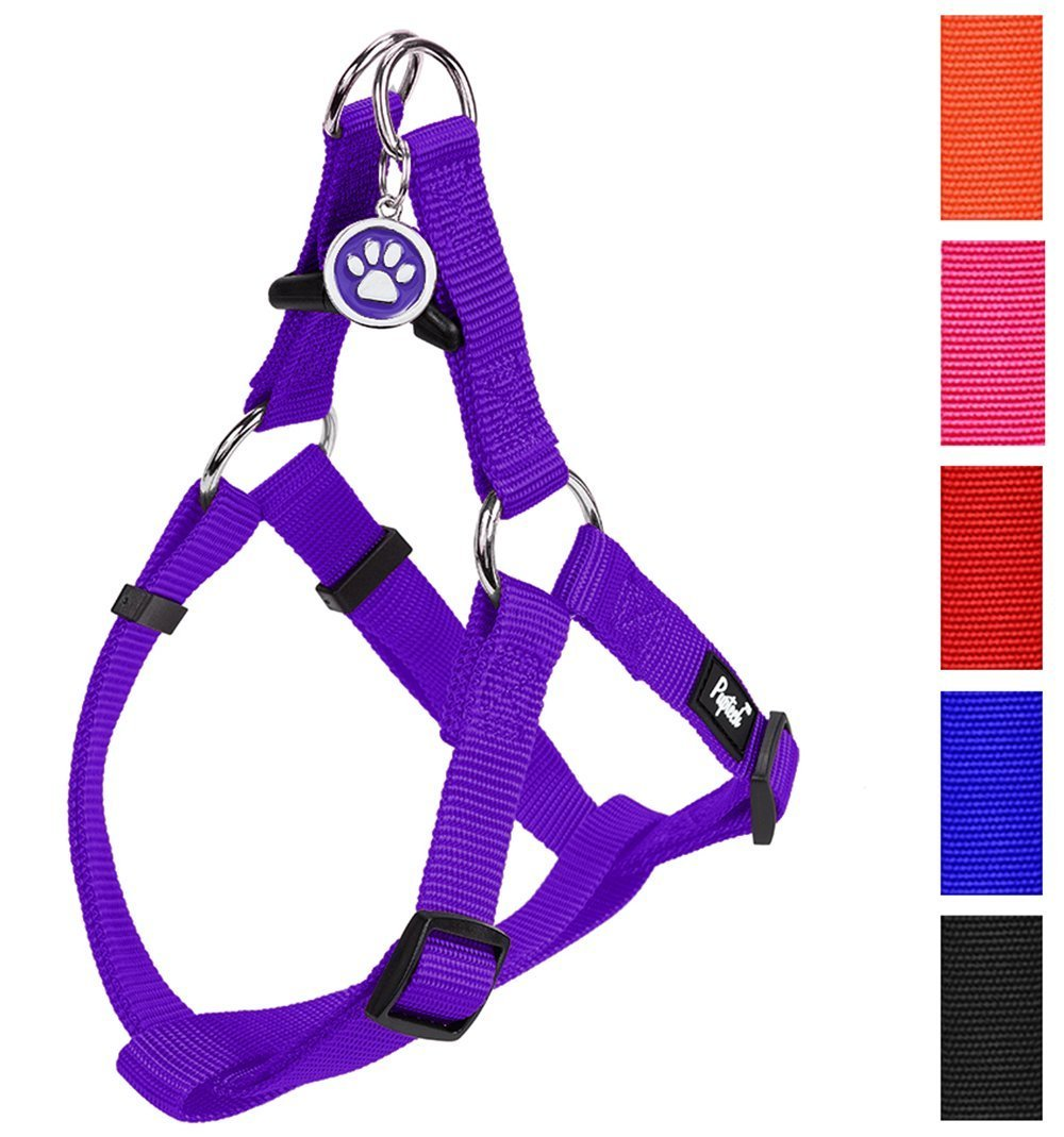 PUPTECK No Pull Dog Harness Adjustable Basic Nylon Step in Puppy Vest Outdoor Walking Chest Girth 15.6''-23.8'' Medium
