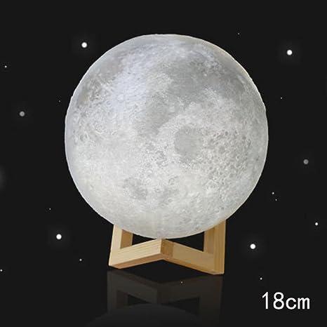 3D USB Luces de mano Luna Noche Luz Mesa de luz de luna Escritorio ...