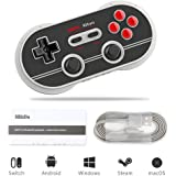 8Bitdo Android Wireless Game Controller for Nintendo Switch, N30 Pro 2 Bluetooth Gamepad for PC / Switch / Android / MacOS / Steam