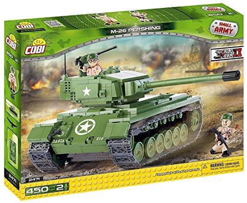 Small Army /2471/M 26 Pershing, 450 Building Bricks by Cobi (Lego Tank)