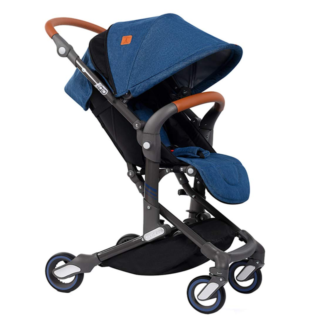 Babysing Baby Stroller high Landscape City Jogging Winter Baby Stroller Windproof and warm I-go Jean Blue
