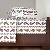 Roostery Salamander 3pc Sheet Set Lizard Gecko Colorful Large On White by Paysmage Twin Sheet Set made with