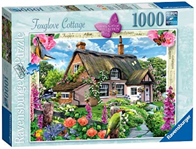 Ravensburger Country Cottage Collection No.7 - Foxglove Cottage, 1000pc Jigsaw Puzzle