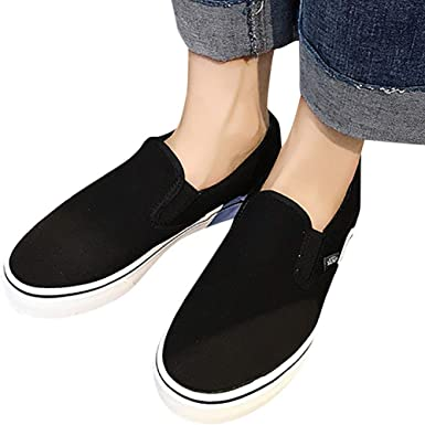 Clearance Women Wide Width Canvas Shoes