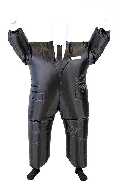 Amazon.com: Slender Man Chub Suit Adult Costume, talla única ...