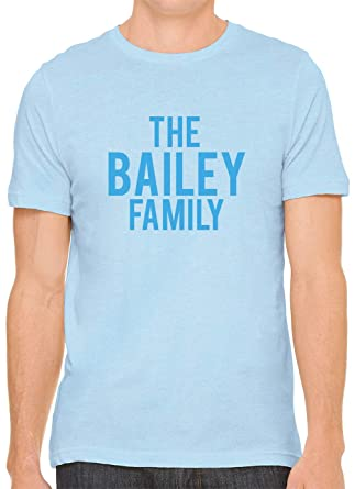 08490944b35f4f The Bailey Family (Blue Print) Cotton Crewneck Unisex Fitted T-Shirt Bblue  XS