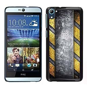 LECELL--Funda protectora / Cubierta / Piel For HTC Desire D826 -- Patrón Peligro rayas metal --