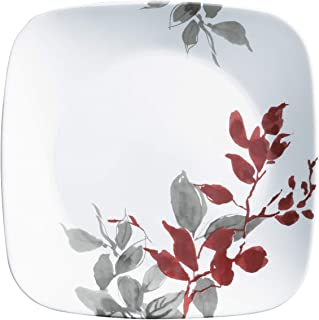 product image for Corelle Boutique Square Lunch Plate Kyoto Leaves 9in (22.5cm) 6 Pack