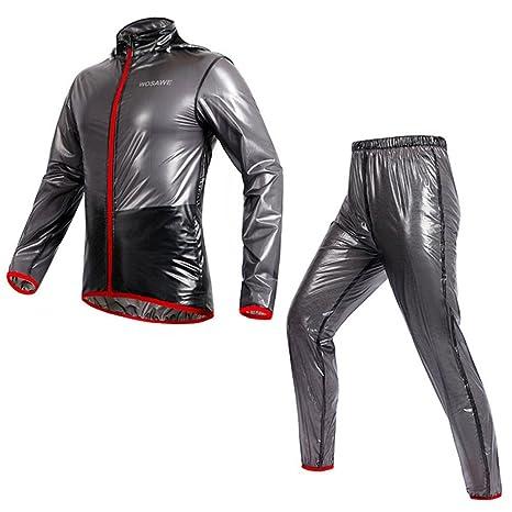 Selighting Ciclismo Impermeable Bicicleta Chaqueta Jersey Ciclismo Chubasquero Lluvia Abrigo Pantalones Ropa de Deporte de Equitación