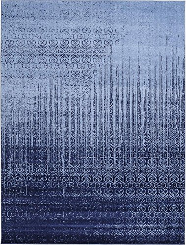 (Over-dyed Modern Vintage Rugs Blue 9' x 12' FT Palma Collection Area Rug - Perfect for any)