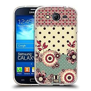 Head Case Designs crema de Rosa y flores y lunares Soft Gel para Grand Neo Samsung Galaxy I9060