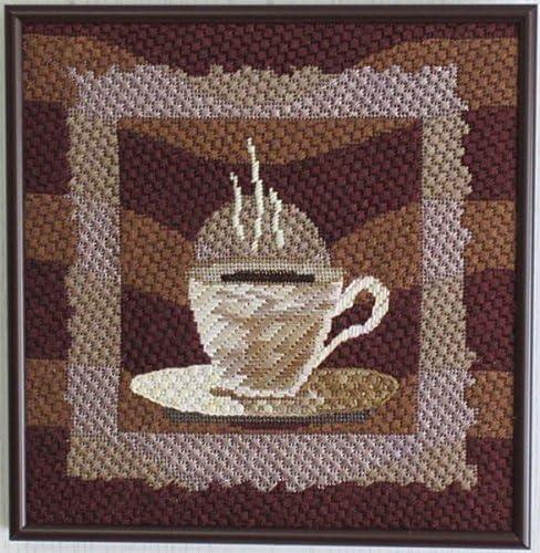 pepita Winter Coffee Needlepoint Canvas