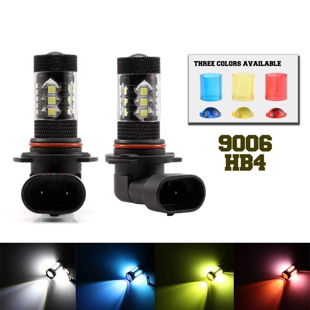 1 An Garantie 9005 HB3 LED Feu de brouillard ampoules 90 W 1500lm 6000 K Blanc froid W//LED Cree Chips pour frein Tour Signal//lumi/ère//DRL Ampoule de brouillard lampe lot de 2