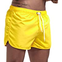 JURTEE Hombre Pantalones Cortos de Playa Secado Rápido Bañador Estampado Beach Shorts Sólido de Color Surf Cintura…