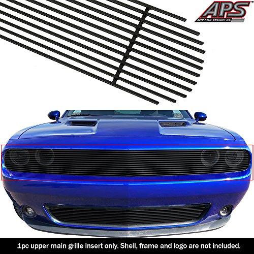 - APS Fits 2015-2019 Dodge Challenger Phantom Black Billet Grille Insert #D66337H