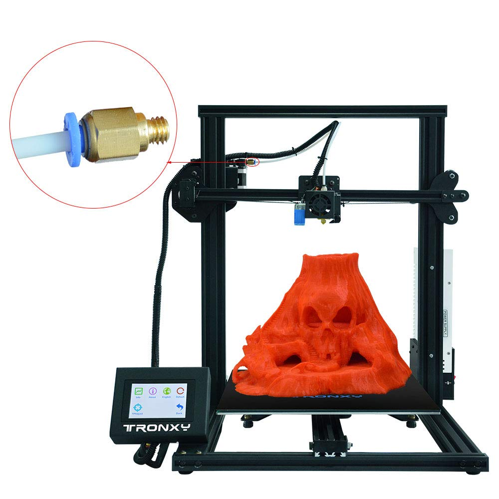 1.75mm 0.4mm Nozzle,Bowden Extruder kit TRONXY Original Extruder Assembled MK8 Hotend Kit for 3D Printer with Aluminum Heating Block