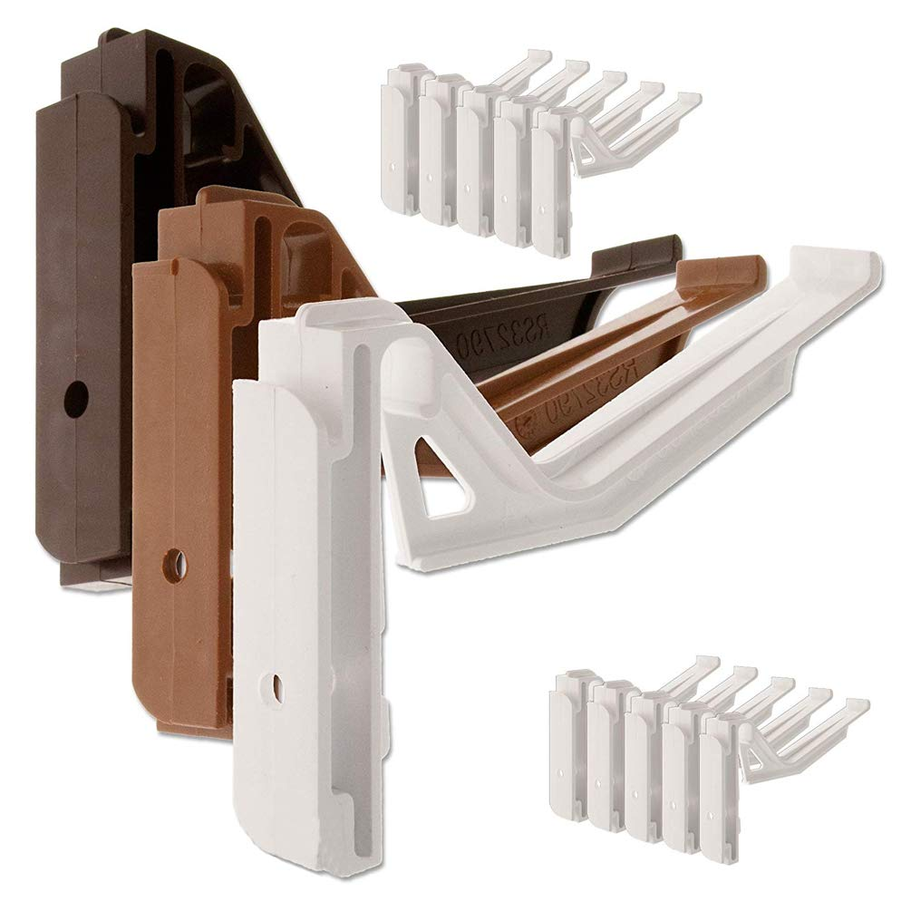 20 x White Wendland RS32790 Conservatory Gutter Brackets, suitable for conservatories with a wendland roof and marshal tufflex guttering system. Genuine manufacturers brackets - Twist-and-Lock type.
