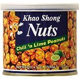 Khao Shong Erdnüsse mit Chili & Lime, 6er Pack (6 x 140 g)