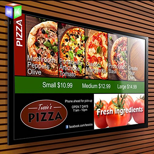 Aluminum Snap Frame Store Sign For Wall Mounted Led Menu Light Box With A2 Size … by Haokang Sign
