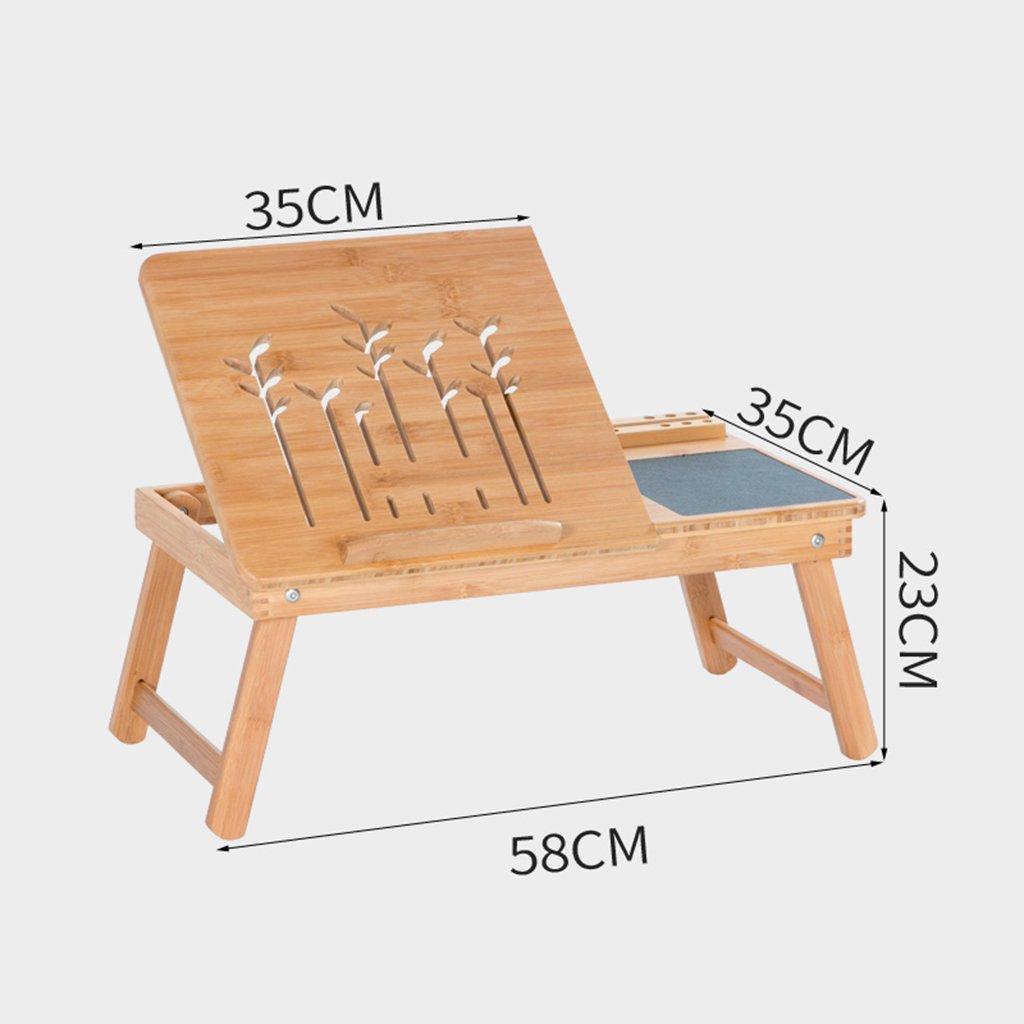 Dongy Cama de bambú pequeño Escritorio cajón y Alfombrilla de ...