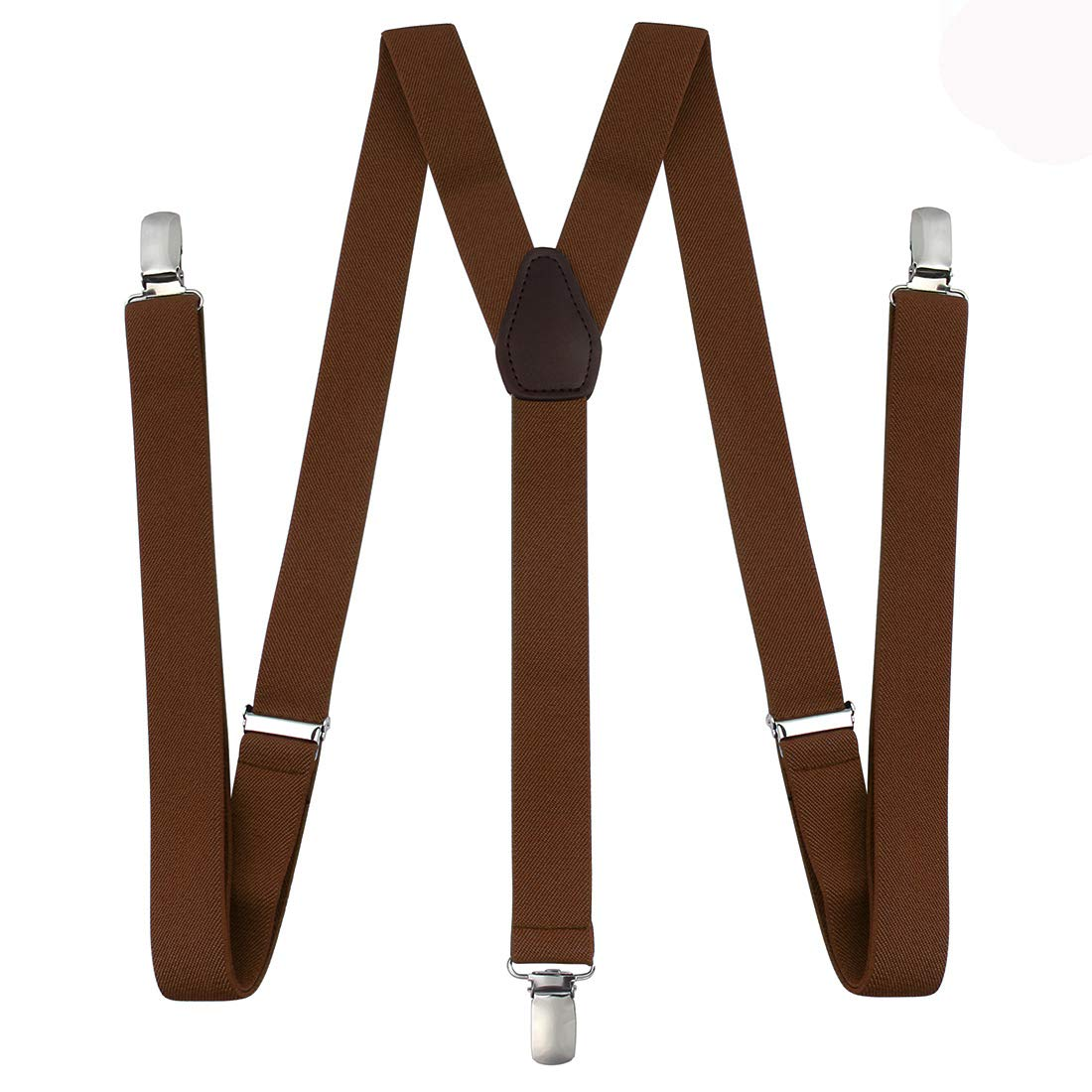 Suspenders for Men - Adjustable Elastic Y Back Style Suspender - Strong Clips (Unisex) RSG-1105-B1