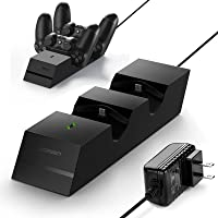 UGREEN PS4 Controller Charger PS4 Charging Station, 2.5 Hours Full Charge for 2 Controllers, DualShock 4 Charger Dock for Playstation Slim, PS4 Pro Controller with AC Adapter - US plug