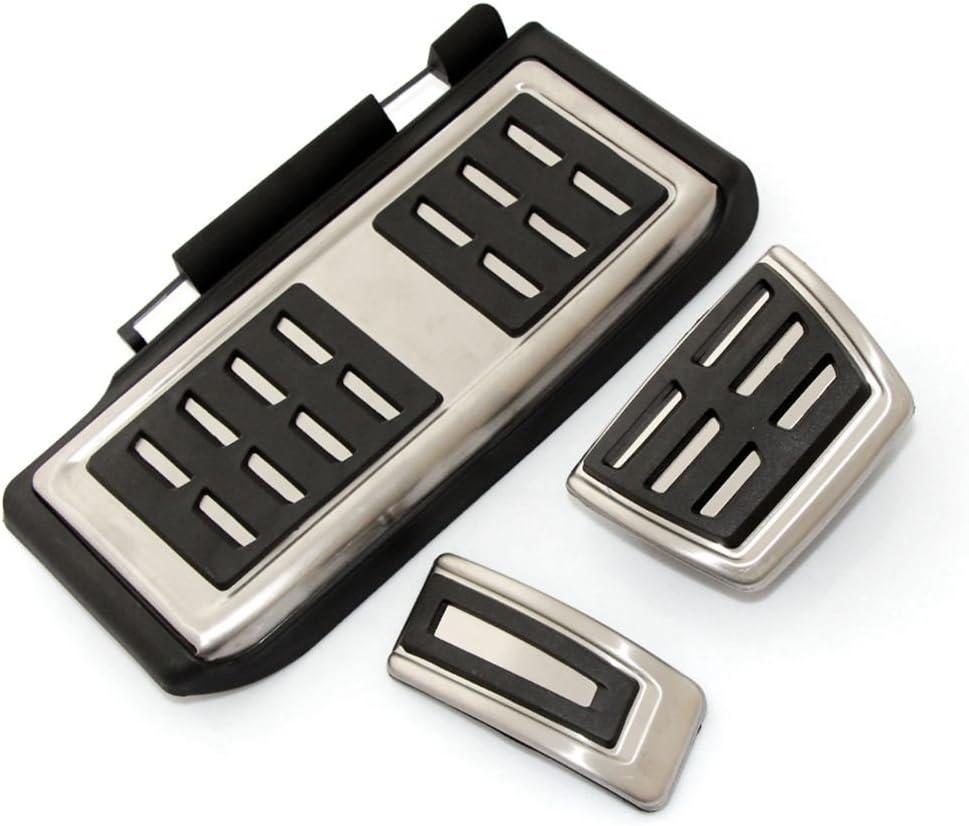 TOOGOO Pedal fijo del freno combustible de deporte estilo de coche Juego de cubierta DSG para Seat Leon 5F MK3 para Skoda Octavia A7 para golf 7 ACCESSories automaticos: 3pzs AT